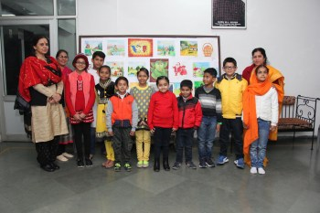 Shikha Jena along with her students of Painting