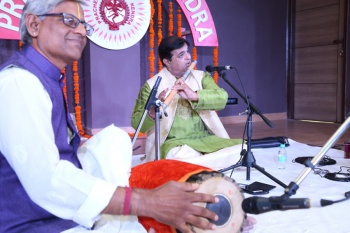 Pt. Chetan Joshi along with Balaji on Mridangam