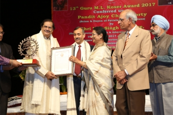 Pandit Ajoy Chakraborty in 13th Guru M.L. Koser Award