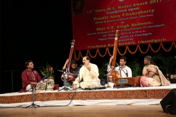 Panditji performing in 13th Guru M.L. Koser Award