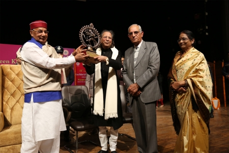 Felicitation of Pt. Sushil Jain by Honble Governor Prof. Kaptan Singh Solanki at Tagore