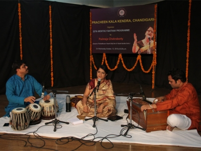 Padmaja Chakraborty is performing vocal classical in 227th Baithak of Kendra