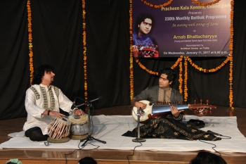 Arnab Bhattacharyya performing in 230th Baithak programme of Kendra
