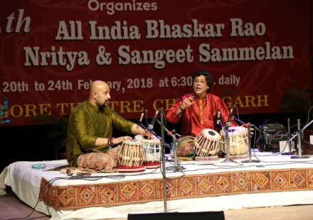 Pt. Anindo Chatterjee & Anubrata Chatterjee at 48th Bhaskar Rao Sammelan at Tagore