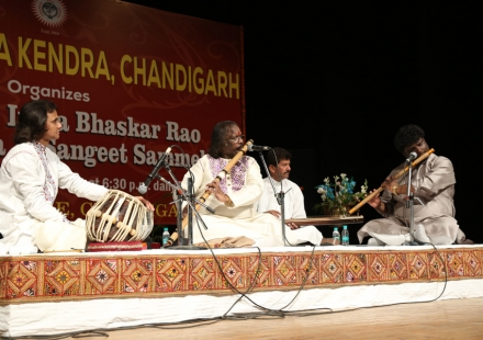 Pt. Rajendra Prasanna performing in 48th Bhaskar rao Sammelan
