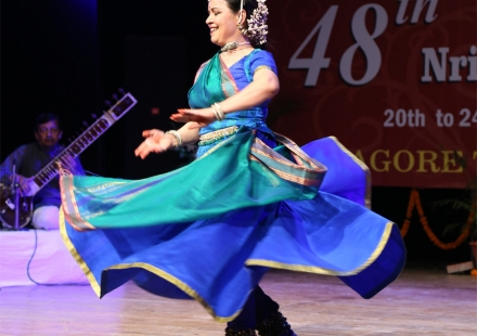 Malti Shyam performing Kathak in 48th Bhaskar Rao Sammelan in tagore