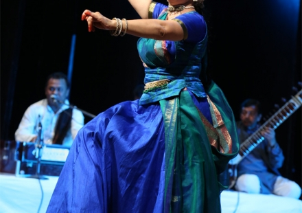 Malti Shyam performing Kathak in 48th Bhaskar Rao Sammelan