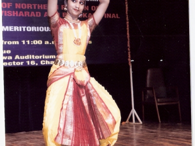 Meritorious studetns performing Kuchipudi dance