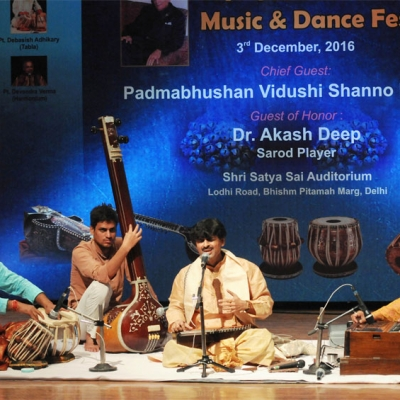 Sandipan Samajpati presenting vocal recital at 4th Guru M.L. Koser festival of music and dance