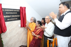 Inauguration ceremony of Kendra's M.L. Koser Auditorium