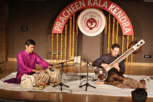 Josh Feinberg along with Rupak Kulkarni on Tabla Performing