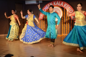 Asawari Pawar & her troupe performing at Kendra in a special programme