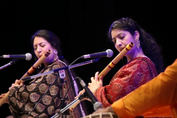 Flute sisters performing in Hemantotsav 2nd day organised by Kendra