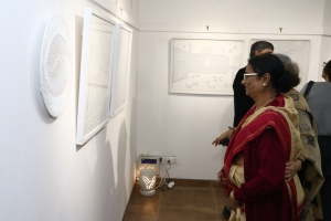 Photos of inauguration of White on White, an experimental Art Show organised by Pracheen Kala Kendra from 6th December to 15th December at PKK Art gallery