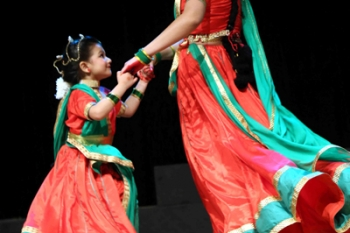 Students performing in dance ballet Radha ki unkahi premgatha