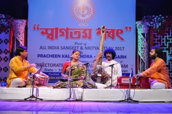 Rageshwari Das presenting Vocal recital in Kendra's All India Sangeet & Nritya Utsav-min