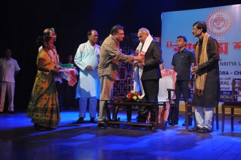 Secretary Shri Sajal Koser honored the Honble Governor at Guwahati in Sangeet & Nritya Utsav-min
