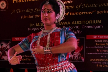 Kaberi sen performing in Special programme of Music and Dance