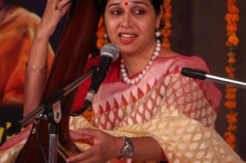 Sonal Shiv Kumar presenting Vocal in a special programme organised by Pracheen Kala Kendra