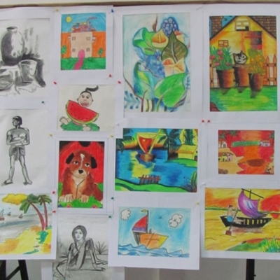 painting exhibition by the students of painting woprkshop at Kendra